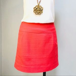 J. Crew Coral or Salmon Textured Cotton Mini Skirt